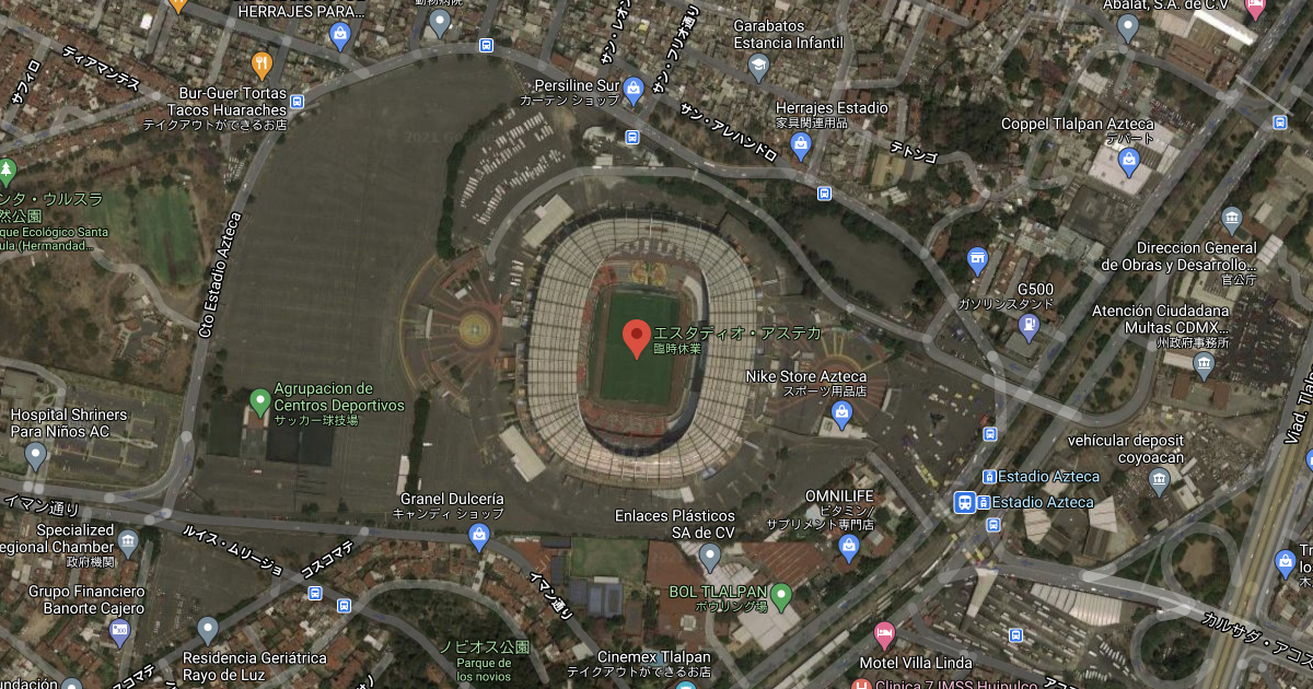 Estadio Azteca on Google Map